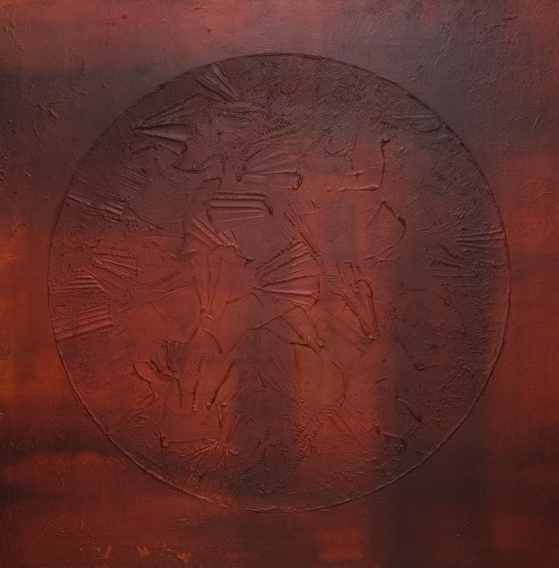 Spiel des Lichtes (red) 100x100cm 2014