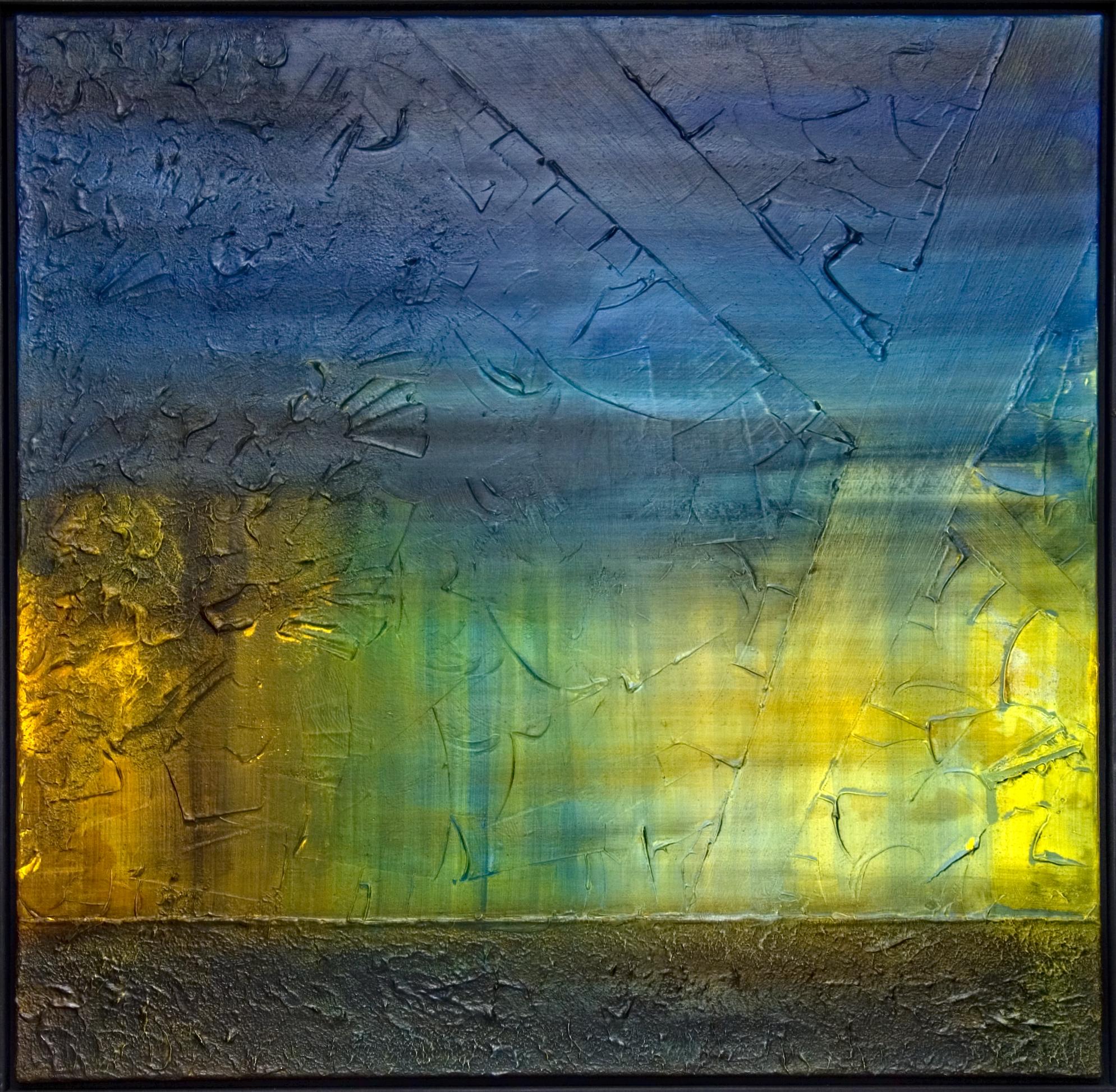 Spiel des Lichtes (blue) 100x100cm 2014