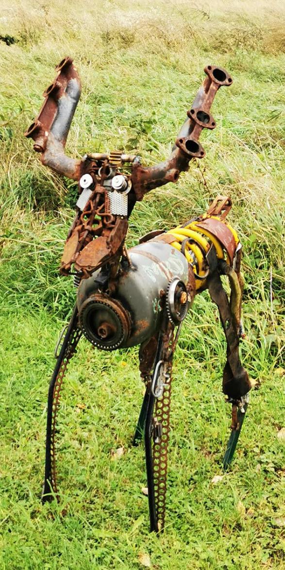 metall pferd